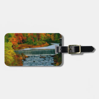 Autumn Scenic View of a Small New England Town Bag Tag