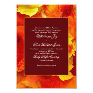Autumn Scent Fall Wedding Custom Invitation