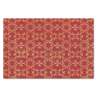 Autumn Scrolls Pattern Tissue Paper