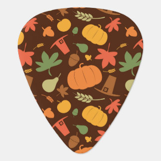 Autumn seamless background, Thanksgiving day. Guitar Pick