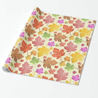 Autumn Season Maple Leaves Watercolor Fall Foliage