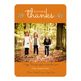 Autumn Season of Thanksgiving Photo Greeting Card