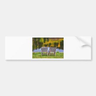 Autumn Season Romantic Lake View For Two Bumper Sticker