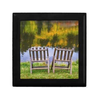Autumn Season Romantic Lake View For Two Keepsake Box