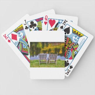 Autumn Season Romantic Lake View For Two Poker Deck