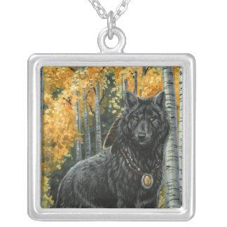 Autumn Shadow Wolf Necklace