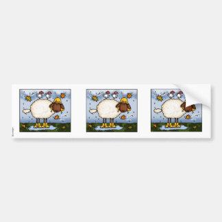 autumn sheep scrapbook sticker