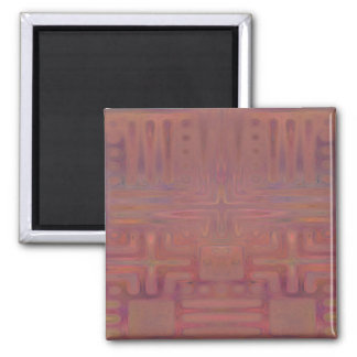 Autumn Show Wine Colored Abstract Magnet