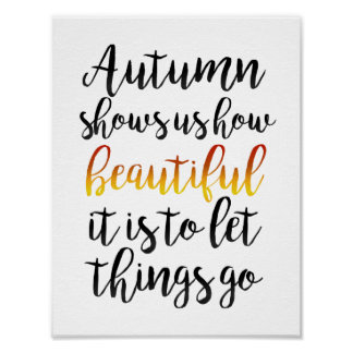 Autumn Shows Us Poster
