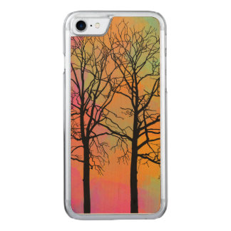 Autumn Skies Tree Silhouette Carved iPhone 8/7 Case