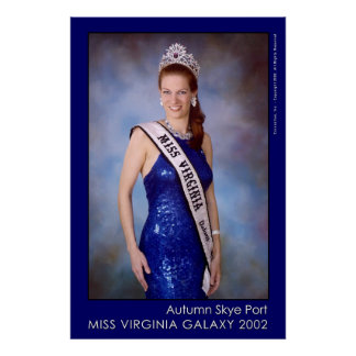 Autumn Skye Port - Miss Virginia Galaxy Poster