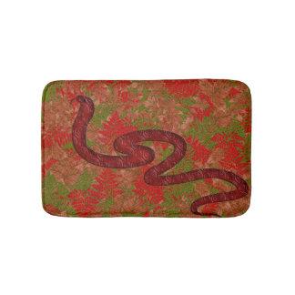Autumn snake bathroom mat