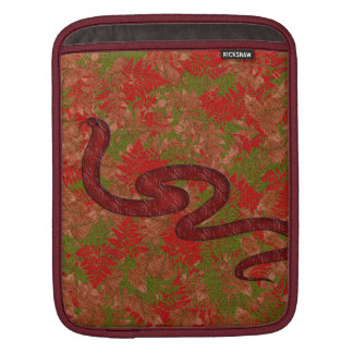 Autumn snake iPad sleeves