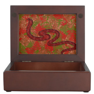 Autumn snake keepsake boxes