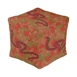 Autumn snake pouf