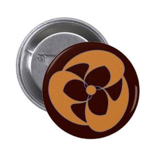 Autumn Spiral Crescent Triquetra 2 Inch Round Button