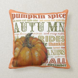 Autumn Splender Pumpkin  Throw Pillow