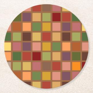 Autumn Squared Round Paper Coaster