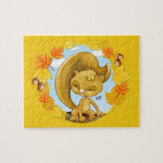 Autumn Squirrel Cartoon Puzzle