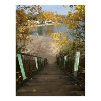 Autumn Staircase Postcard