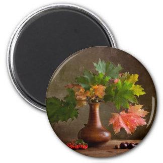 Autumn Still Life 2 Inch Round Magnet