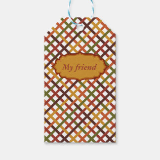 Autumn Stripes Pack Of Gift Tags