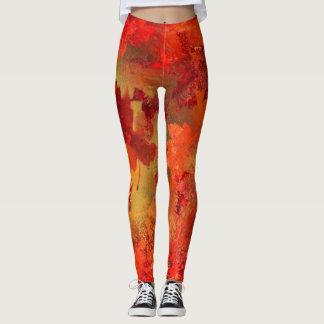 """""""Autumn Sun"""" Abstract Painting Leggings"""