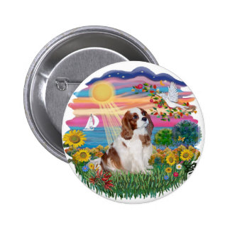 Autumn Sun - Blenheim Cavalier 2 Inch Round Button