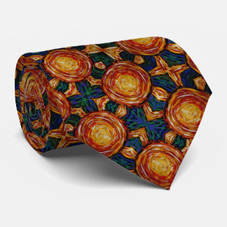 Autumn Sunburst Pattern Tie