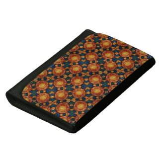 Autumn Sunburst Pattern Women's Wallet