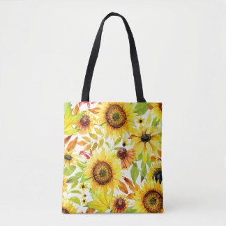 Autumn Sunfllowers - Fall Tote Bag - Sunflower Bag