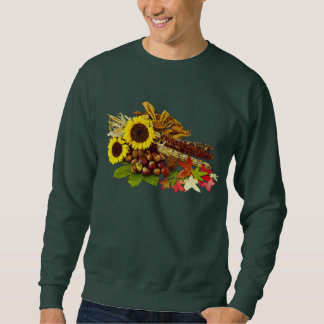 Autumn Sunflower and Corn Bouquet Sweatshirt