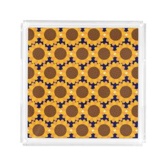 Autumn Sunflower Pattern Acrylic Tray