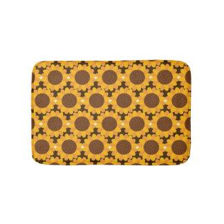 Autumn Sunflower Pattern Bath Mat