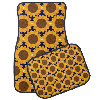 Autumn Sunflower Pattern Car Floor Carpet