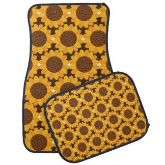 Autumn Sunflower Pattern Car Liners