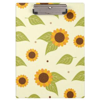 Autumn Sunflower Pattern Clipboard