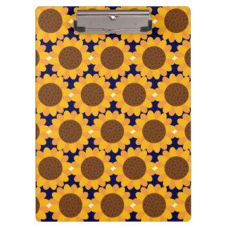 Autumn Sunflower Pattern Clipboards