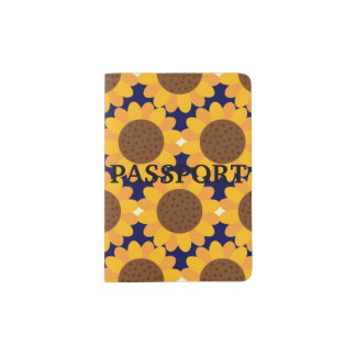 Autumn Sunflower Pattern Passport Holder