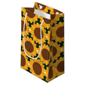 Autumn Sunflower Pattern Small Gift Bag