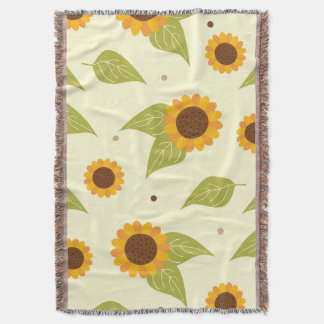 Autumn Sunflower Pattern Throw