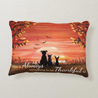 Autumn Sunset Always Thankful Accent Pillow