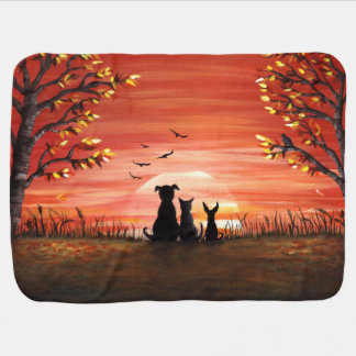 Autumn Sunset Baby Blanket