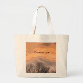 Autumn Sunset Bridesmaid Large Tote Bag
