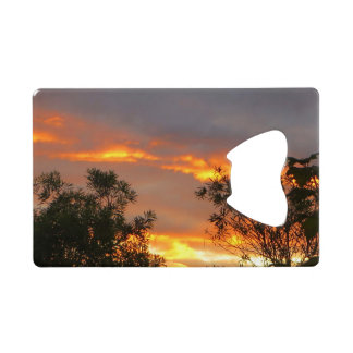 Autumn Sunset in Canberra double-sided Wallet Bottle Opener