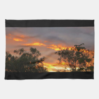 Autumn Sunset in Canberra Towels