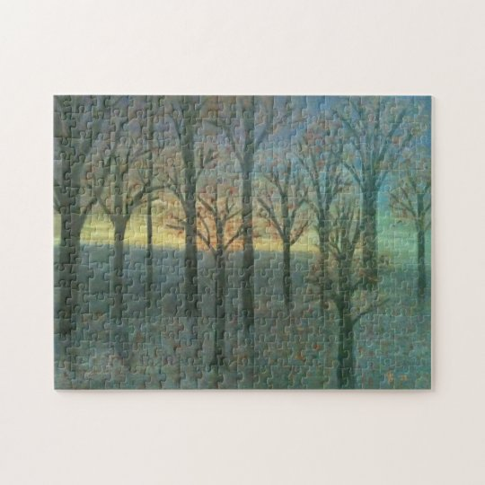 Autumn Sunset Jigsaw Puzzle