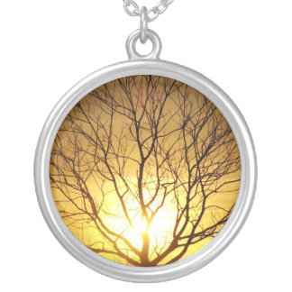 Autumn Sunset Silver Plated Necklace