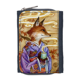 Autumn Tea Fox kitsune Wallet