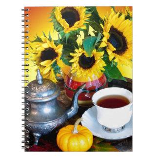 Autumn Tea Service Notebook